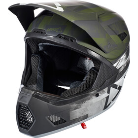 Leatt DBX 3.0 DH Casco, verde/nero